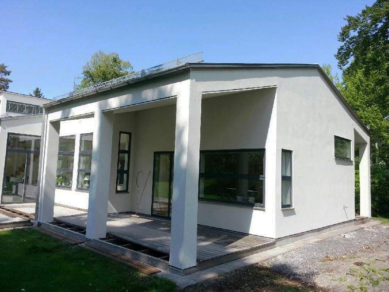 Exempel på puts på luftad fasad